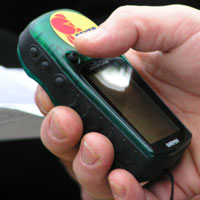 One of the GPS devices we used for the geocaching trip