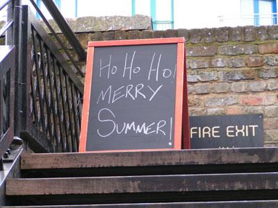 ho ho ho, merry summer!