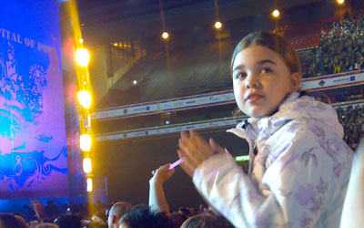 young girl at concert