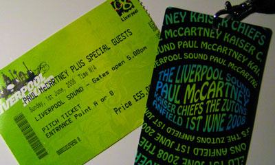 ticket to Liverpool Sound