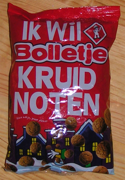 kruidnoten, a typical Dutch Sinterklaas treat