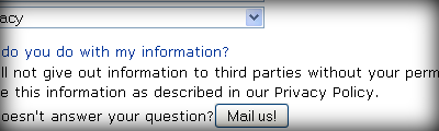 "FAQ: ""We will not give out information to third parties without your permission"""